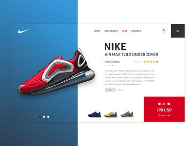 E-Commerce Shop shoe nike shop branding website web page landing web design adobe xd dailyui ui