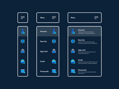 Dropdown Menu 027 dropdown menu security ux web design navigation mobile app app adobe xd dailyui ui