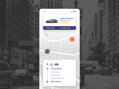 Map car share ux 029 map navigation mobile app adobe xd dailyui ui