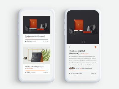 Crowdfunding Campaign campaign product fundraise ecommerce 032 daily ui crowdfunding ux ui mobile app app design