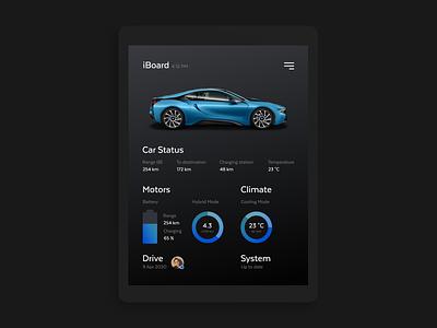 Car Interface 034 navigation daily 100 challenge dailyui interface bmw ipad dashboard car ux app adobe xd ui