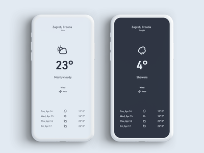 Weather forecast weather card daily 100 challenge ux mobile app app adobe xd dailyui ui