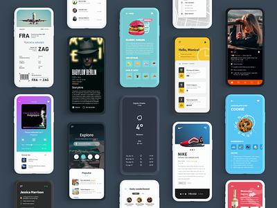 Mobile App Collection daily 100 challenge navigation mobile app ux app adobe xd dailyui ui