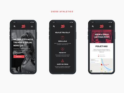 20350 Athletics - Fitness & Lifestyle Website web design website web page mobile app ux app adobe xd dailyui ui