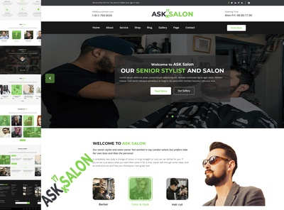 ASK- A Creative Salon Website Template