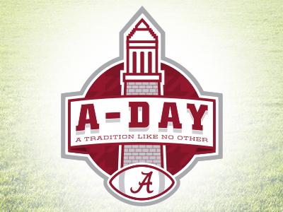 A-Day roll tide ncaa bama identity branding football sports design