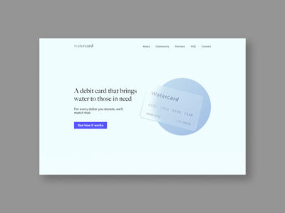 WATERCARD webdesign website ui cards watercard watercardchallenge