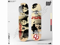 Daily Design Initiative 02 Skateboard Design (Joan's Skate Shop)