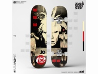 Daily Design Initiative 03 Skateboard Design (Joan's Skate Shop)