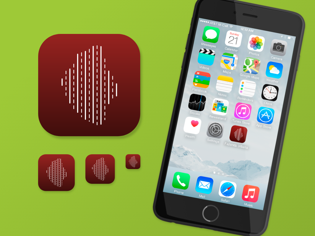 Daily UI :: 005 | Icone App Fazenda Urbana flat logo icon app ux ui design dailyui