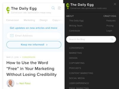 Crazy Egg Blog - Mobile Nav