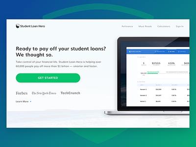 Student Loan Hero - New Homepage (Hero) mobile tablet responsive landing homepage hero
