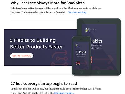 Hiten Shah - eBook Promos wordpress free system devices ad responsive widget promo ebook