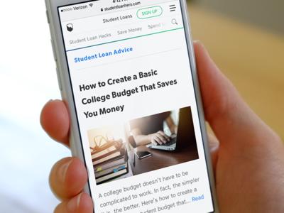 Student Loan Hero - New Blog Index (mobile)