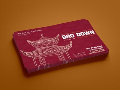 Bao Down Restaurant Postcard