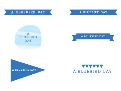 Bluebird Day Blog Logo logo typography blog simple blue