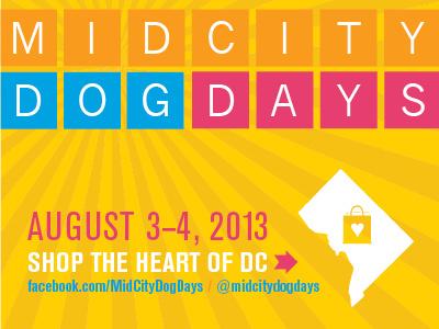 MidCity Dog Days postcard summer promotion retail