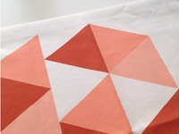 New Textile Project textile abstract triangles shape modern