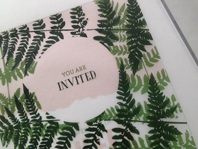 Colorado Wedding Invitation Idea wedding invitation mountains ferns colorado