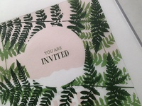 Colorado Wedding Invitation Idea wedding invitation mountains ferns colorado