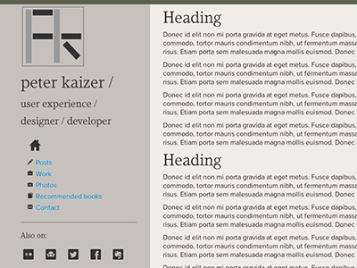 Coded mock up for Jekyll powered site