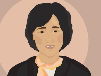Mah-Mah illustration art digitalart digital illustrator family grandma portrait illustration