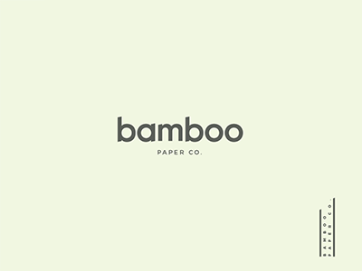 Bamboo Paper Co. marks branding logos logo series