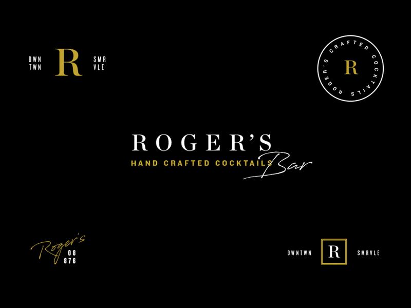 Roger's Bar branding concept branding and identity logotype logotypes logos marks logo design brand identity design brand id brand identity branding design branding