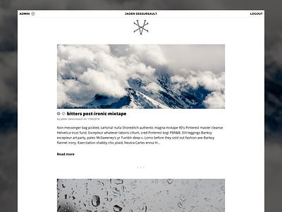 XV - Home Page jaden dessureault blog cms minimal php web xv admin platform winnipeg