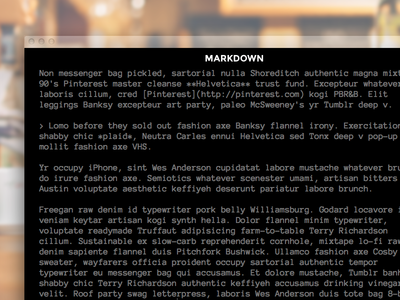 XV - Markdown Editor php monospace anonymous jaden dessureault markdown cms editor blog web design web xv winnipeg