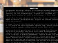 XV - Markdown Editor
