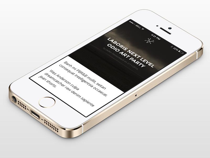 XV - Mobile jaden dessureault xv blog web ui responsive winnipeg mobile clean