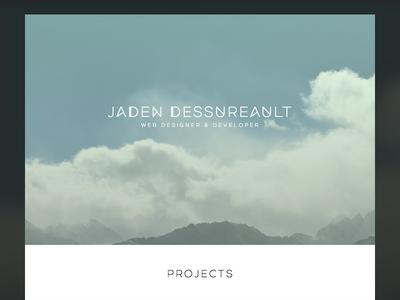 Personal Website winnipeg minimal simple portfolio canada personal website ui web