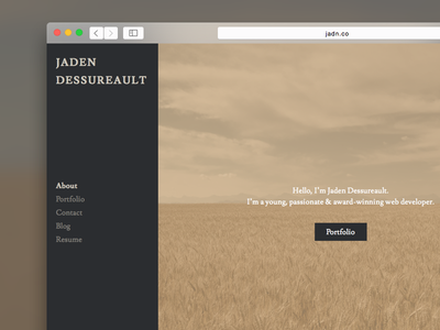 Portfolio Experiment #1 portfolio personal website web developer minimal