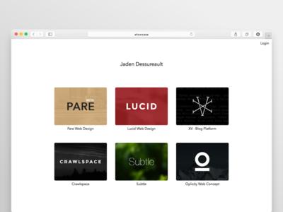 Showcase - Project View portfolio website web design project personal