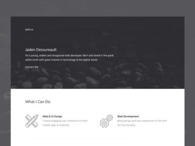 Personal Portfolio personal portfolio winnipeg canada minimal website web design ui mobile