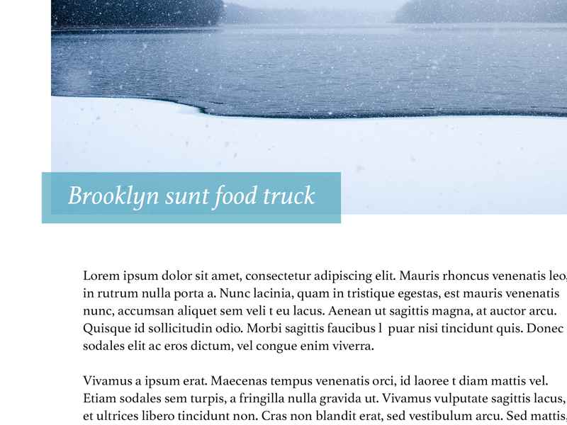 Blog Post serif layout article theme ghost blog