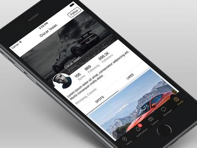 iOS App cars profile iphone user interface ios app