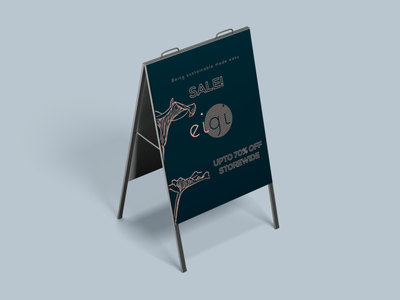 Branding - Sale illustration floor stand graphic design