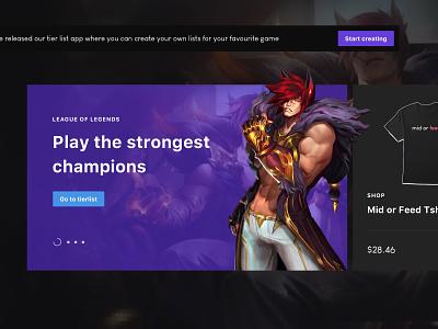 Gaming App Concept work concept ui ux gaming website data web design app gaming