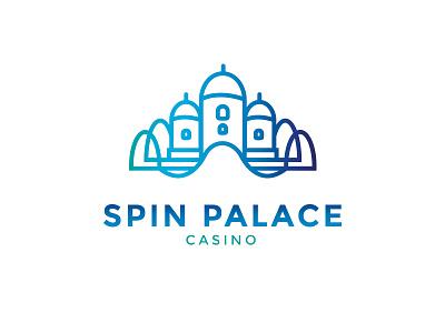 SP Logo Concept #5 logo concept branding castle spin vector palace