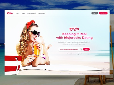 Mojo Splash Concept dating ux ui icon branding concept logo