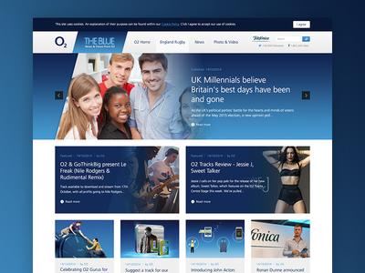 o2 Blog Design ux ui design blog