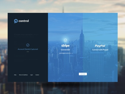 Connecting Account login register ux ui design concept dashboard dash app web