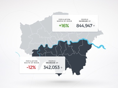 London Map infographic info statistic overview map design mobile ux ui
