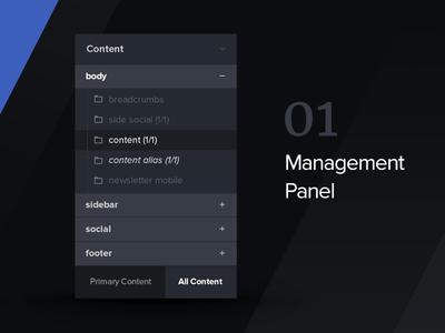 CMS Panel ux ui cms panel