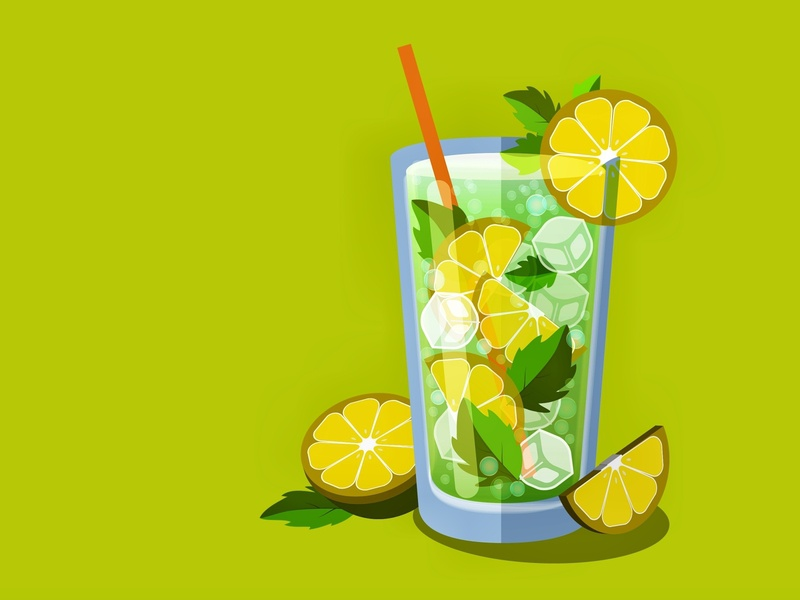 lemonade drink food and drink lemonade lemon vector graphic  design illustration design flat
