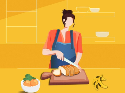 Cooking dish stayhome cooking women website women in illustration vector graphic  design illustration design flat