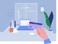 Online Payment creditcard online online store online shopping payment website ux graphic  design vector flat illustration design