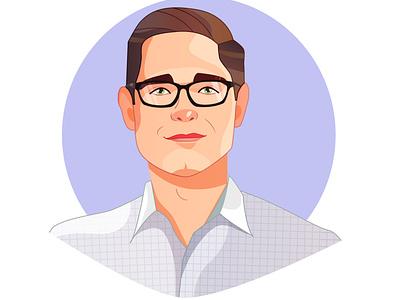 Portrait caricature character portrait illustration portrait art portrait flat illustration